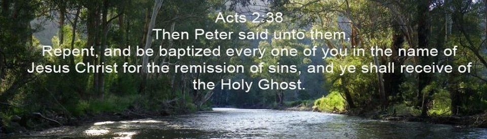 Repent be baptized in Jesus Name receive the Holy Spirit is our statement of faith